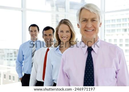 Business team behind ceo #246971197