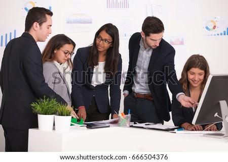 business team brainstorming #666504376