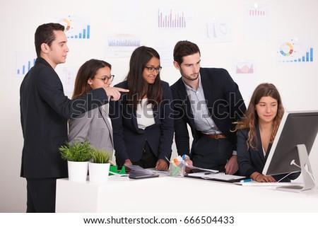 business team brainstorming #666504433