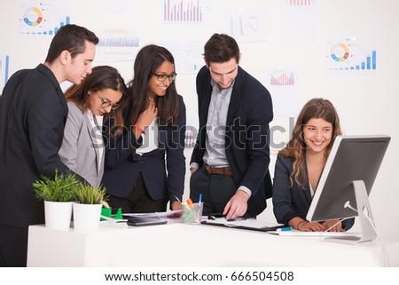 business team brainstorming #666504508