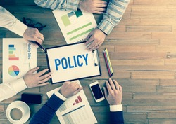 Business Team Concept: POLICY