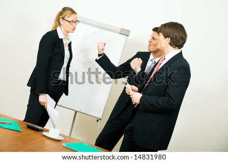 Business Team having a rather serious argument