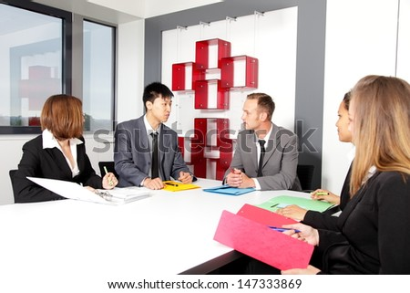 Business team in office at the meeting in conference room