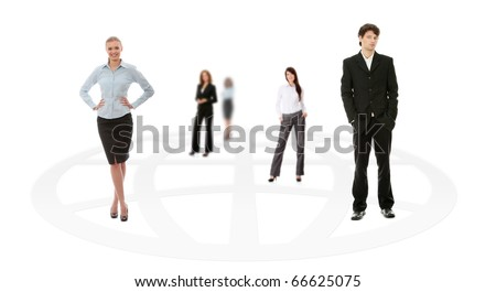Business team isolated on white background - stock photo