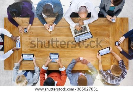 Business Team Marketing Global Communication Concept - Shutterstock ID 385027051