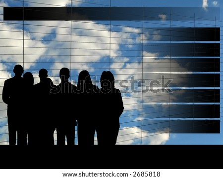 Business Team Meeting Agenda - stock photo
