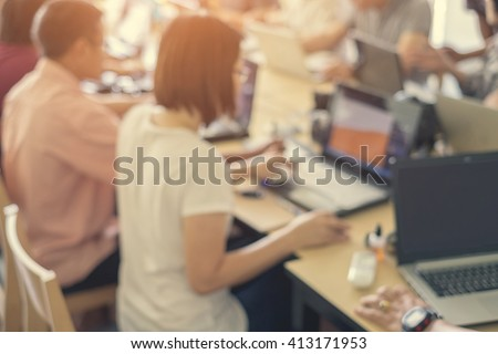 Business Team Meeting Concept in a office Blurred Background