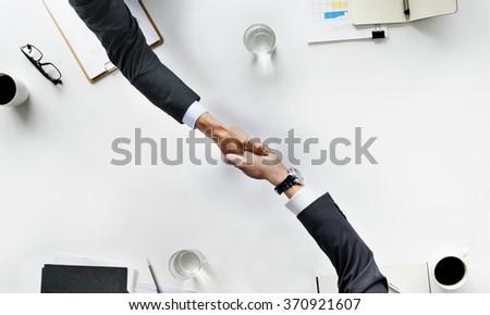 Business Team Meeting Handshake Applaud Concept
