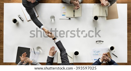 Business Team Meeting Handshake Applaud Concept #393597025