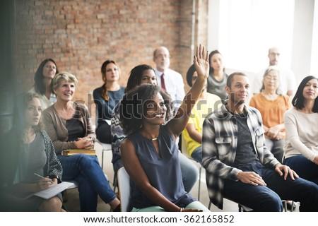 Business Team Meeting Seminar Training Concept #362165852