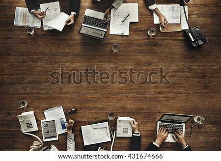 Business Team Meeting Working Marketing Concept