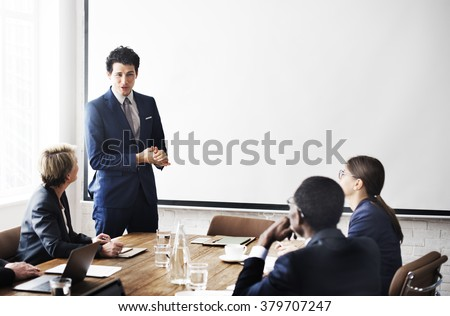 Business Team Meeting Working Presentation Concept