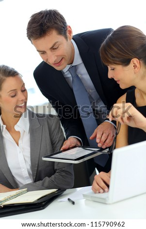 Business team on a project meeting