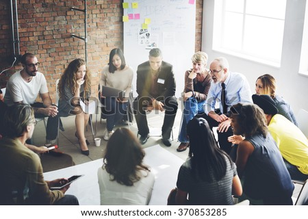 Business Team Organization Brainstorming Concept