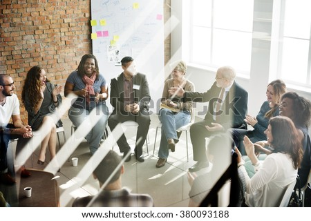 Business Team Seminar Corporate Strategy Concept