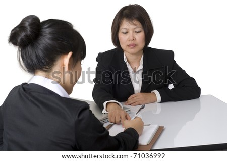 Business team sitting at desk together