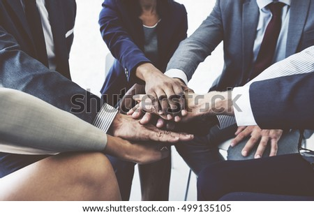 Business Team Stack Hands Support Concept #499135105