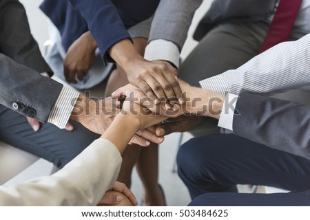 Business Team Stack Hands Support Concept #503484625