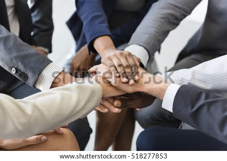 Business Team Stack Hands Support Concept #518277853