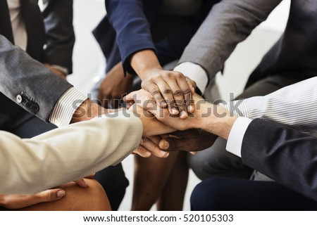 Business Team Stack Hands Support Concept #520105303