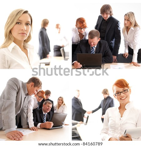 Business team work in the office - stock photo