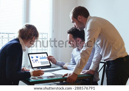 business team working