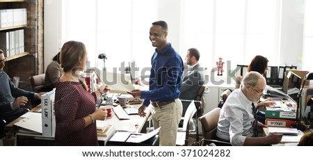 Business Team Working Office Worker Concept #371024282