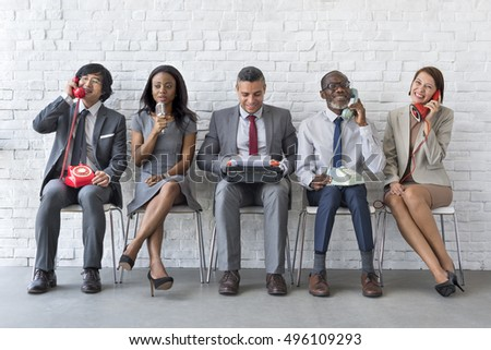 Business Team Working Using Vintage Objects Concept - Shutterstock ID 496109293