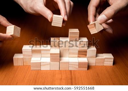 business teamwork concept, group work, partnership