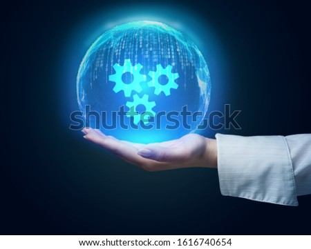 Business, Technology, Internet and network concept. Automation Software Technology Process System.