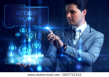 Business, Technology, Internet and network concept. Concept meaning proposed strategy or course of actions for certain time