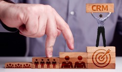 Business, Technology, Internet and network concept. CRM Customer Relationship Management.