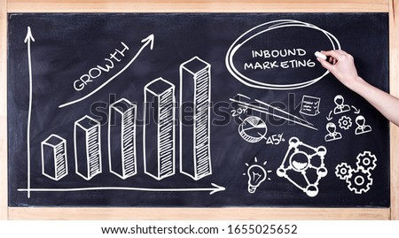 Business, Technology, Internet and network concept. Digital Marketing content planning advertising strategy concept. Inbound marketing