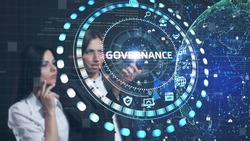 Business, Technology, Internet and network concept. GOVERNANCE  successful business concept