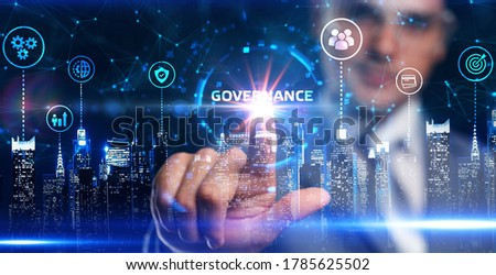 Business, Technology, Internet and network concept. GOVERNANCE  successful business concept. Foto stock ©