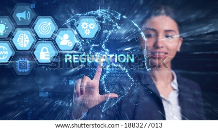 Business, Technology, Internet and network concept. Regulation Compliance Rules Law Standard. Photo stock ©