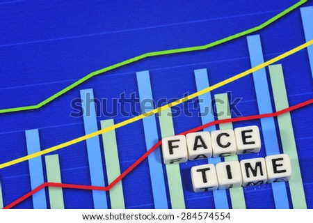 Business Term with Climbing Chart / Graph - Face Time