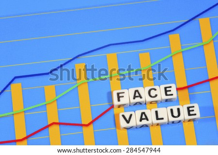 Business Term with Climbing Chart / Graph - Face Value