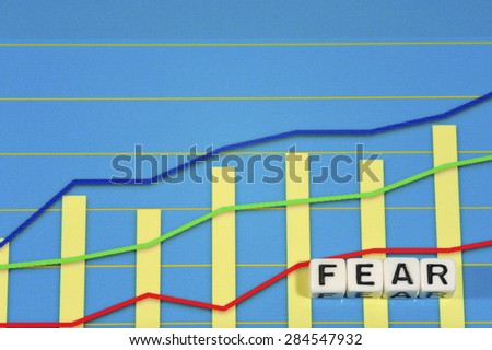 Business Term with Climbing Chart / Graph - Fear