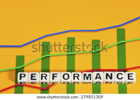 Business Term with Climbing Chart / Graph - Performance