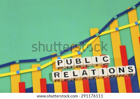 Business Term with Climbing Chart / Graph - Public Relations