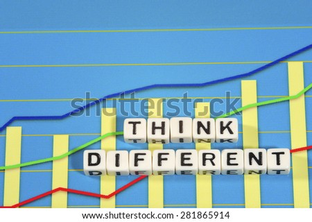 Business Term with Climbing Chart / Graph - Think Different