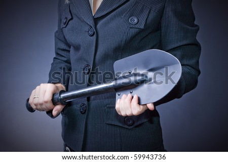 business theme with a shovel (for any background associated with the construction or farm)