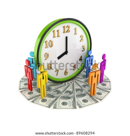 Business time concept.Isolated on white background.3d rendered.