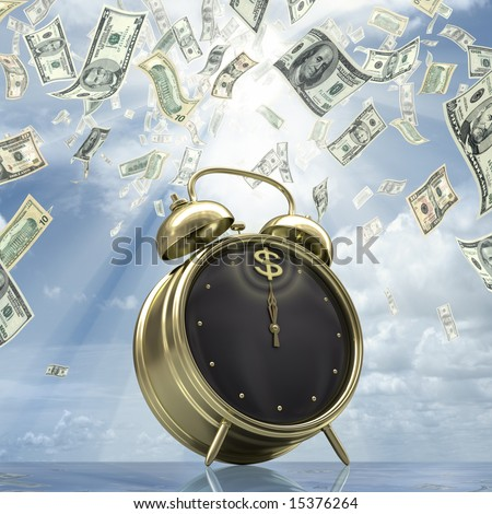 Business Time. Concept of time is money.
