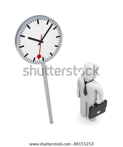 Business time. Image contain clipping path - stock photo
