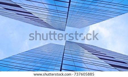 Business tower with sky and cloud