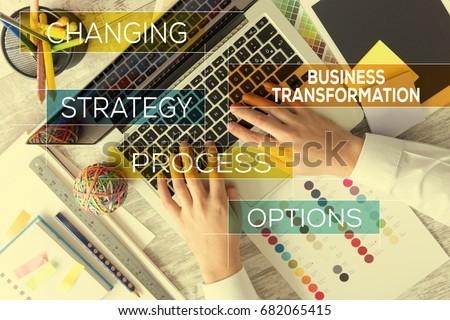 BUSINESS TRANSFORMATION CONCEPT #682065415