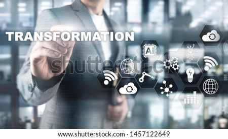 Business Transformation. Future and Innovation Internet and network concept. Abstract business background. Mixed Media #1457122649
