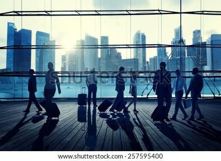 Business Travel Commuter Corporate Cityscape Trip Concept #257595400
